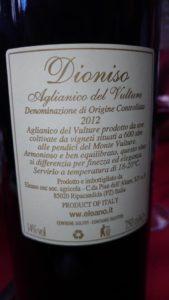 Dioniso 2012 D.O.C. di Tenuta Elano