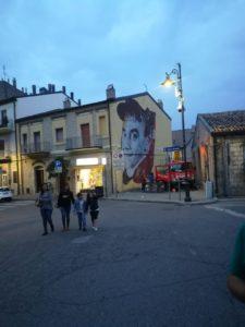 il murales di dedicato a Jimmy Savo