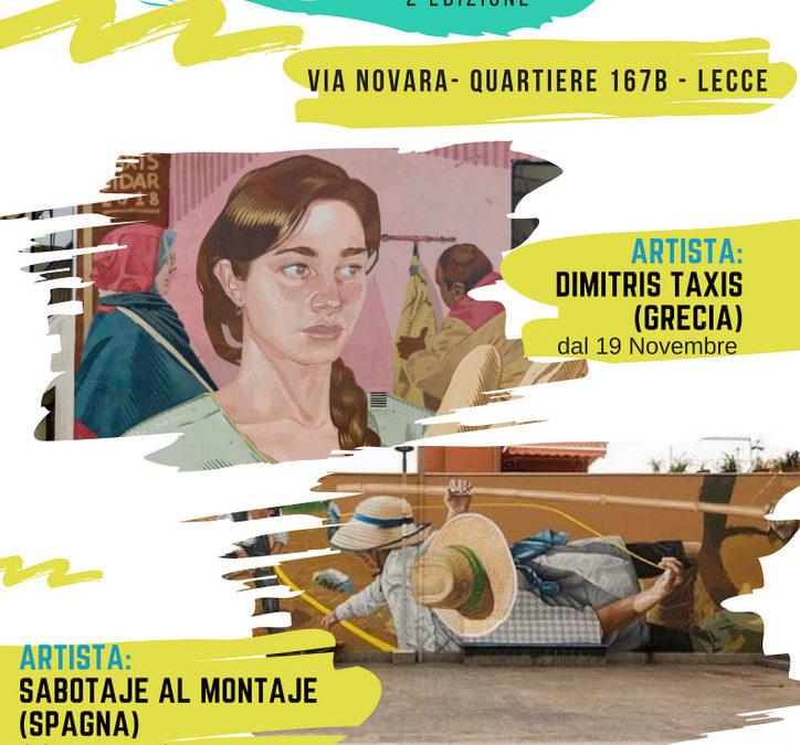 Dal 19 Novembre a Lecce 167 Art project, due settimane di street art nel quartiere 167B