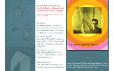 """8 Novembre a Tito Scalo presentazione di """"La matematica secondo Sinisgalli"""""""
