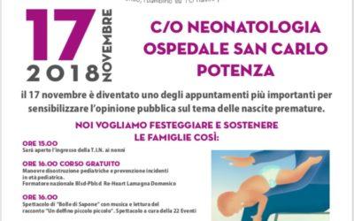 17 novembre al San Carlo di Potenza è world prematurity day