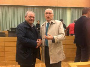Livio Valvano con il Consigliere regionale Franco Mollica