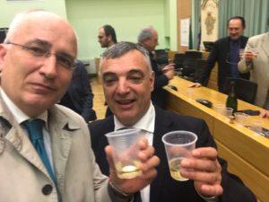 Livio Valvano con il neo eletto Presidente della Provincia di Potenza, Rocco Guarino