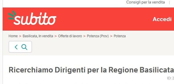 ULTIMISSIMA AL PASSO COI TEMPI!!! I candidati alla Regione? In Basilicata si cercano su Subito.it!