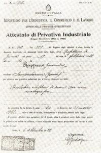 Il brevetto di Giovanni Rappazzo