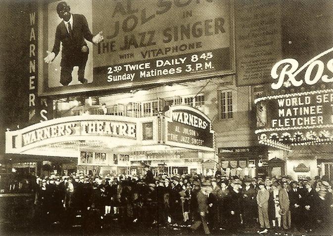 WARNER THEATRE NEW YORK - la sera della prima di THE JAZZ SINGER