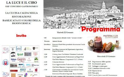 XXII Concorso gastronomico a Matera