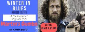 """8 Febbraio - Martin's Gumbo blues band al ristorante """"Le Fiamme"""""""