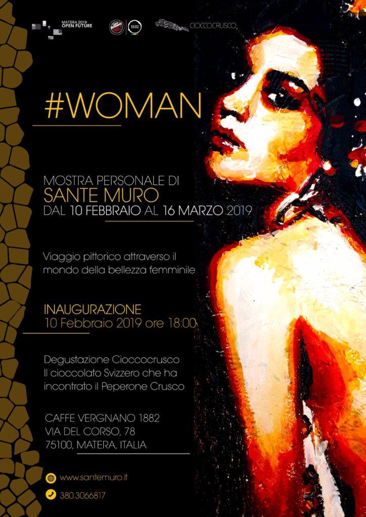 """mostra """"#Woman"""" di Sante Muro - Locandina"""