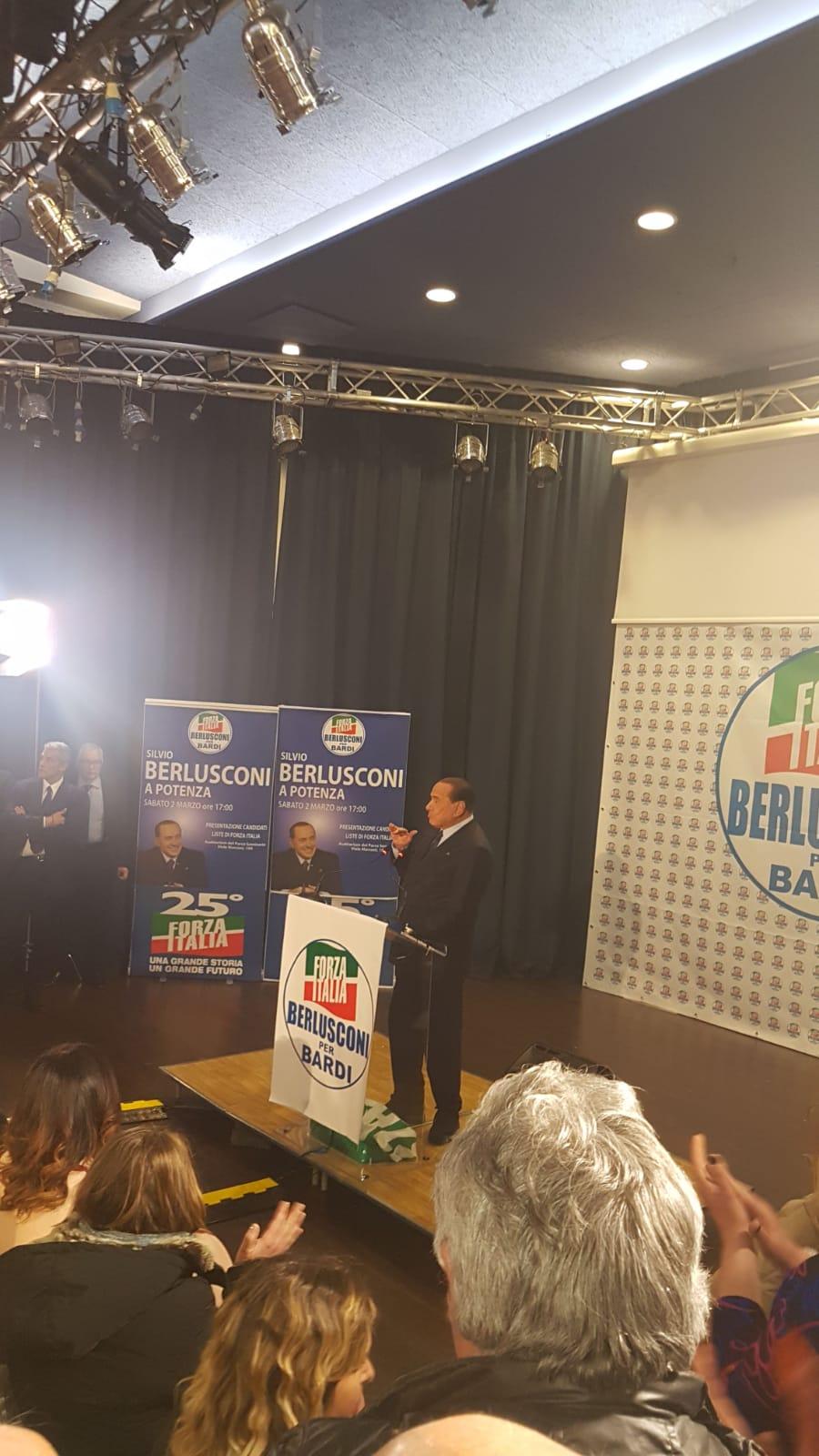 2 marzo Berlusconi a Potenza
