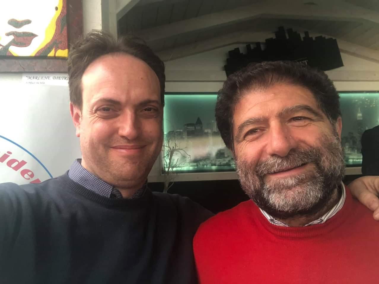 5 marzo Trerotola e il sindaco di Latronico De Maria