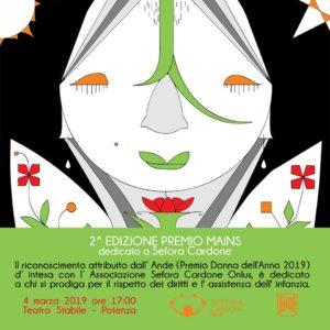 2^ edizione «Premio Speciale Mains» dedicato a Sefora Cardone