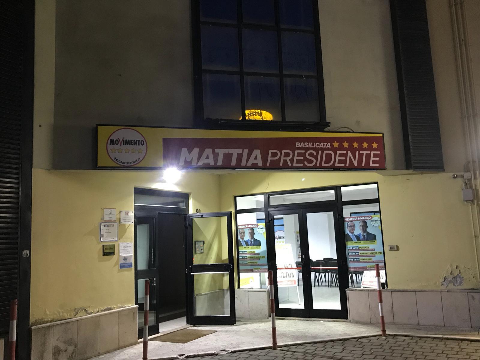 Il comitato elettorale di Mattia