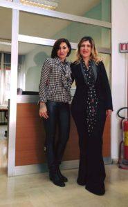 Gabriella Megale con Anna Maria Bernini