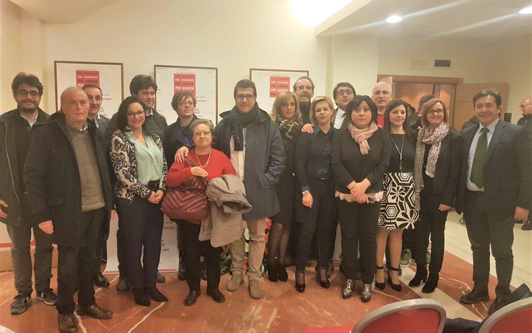 I candidati del Partito Socialista Italiano al Consiglio regionale di Basilicata nei Collegi di Potenza e di matera
