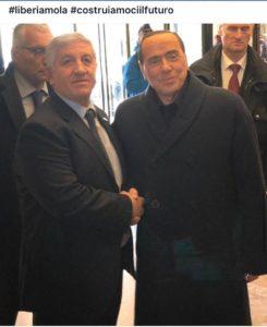 Franco Cupparo con Silvio Berlusconi