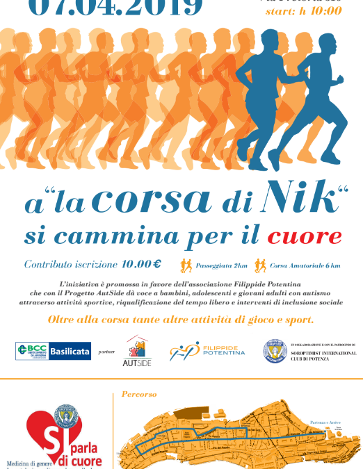 "7 aprile a Potenza ""La corsa di Nik"""