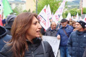 la candidata sindaco del centrosinistra, Bianca Andretta