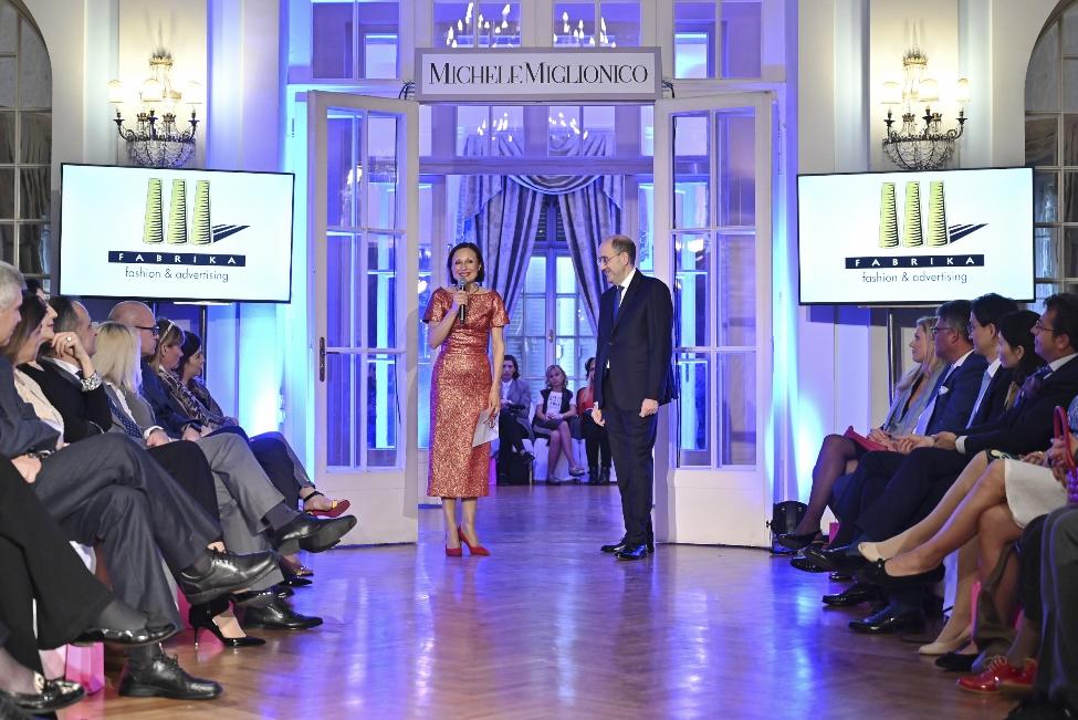 Ambasciatore S.E. Carlo Lo Cascio e Vesna Mandic responsabile Agenzia Fabrika