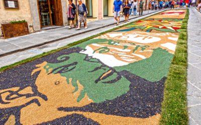 Città della Pieve e l'infiorata di San Luigi Gonzaga