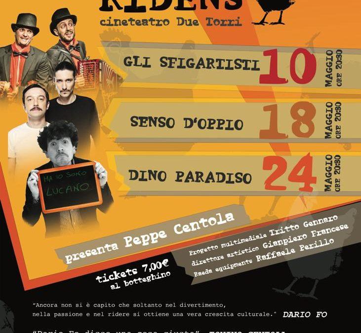 """Il 10 maggio parte la prima edizione di """"Lucano Ridens"""", rassegna di cabaret con artisti lucani. Tre date presso il cineteatro 2 Torri di Potenza."""