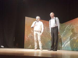 Mario Ierace e il regista Pio Baldinetti salutano e ringraziano (ph.L.Calza)