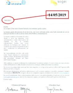 La lettera di Agenzia delle Entrate e Sogei