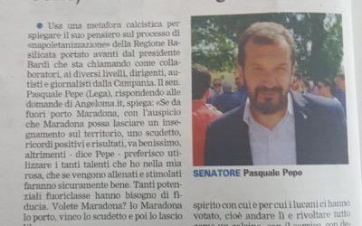Intervista al Senatore Pepe: la Gazzetta del Mezzogiorno riprende Angelomà
