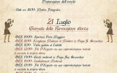 """21 Luglio 2019, a Bernalda ritorna la rievocazione storica """"La Porta Medievale"""""""