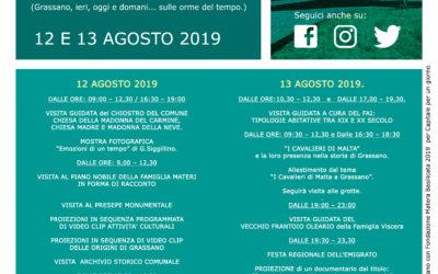12 e 13 Agosto, Grassano Capitale per un giorno – Programma