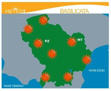 Previsioni meteo in Basilicata dal giorno 5 all'8 Luglio (a cura di Meteo7.it)