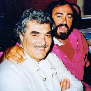 Tito Capobianco con Luciano Pavarotti_