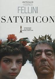 la locandina del Satyricon di Fellini