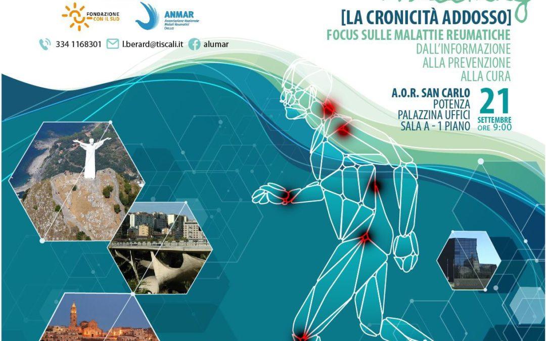 21 settembre a Potenza REUMA meeting, Focus sulle malattie reumatiche dall'informazione alla prevenzione alla cura