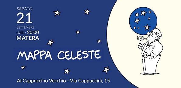 """Sabato 21 Settembre a Matera """"Mappa celeste dell'Italia che c'è: storie per illuminare il futuro"""""""