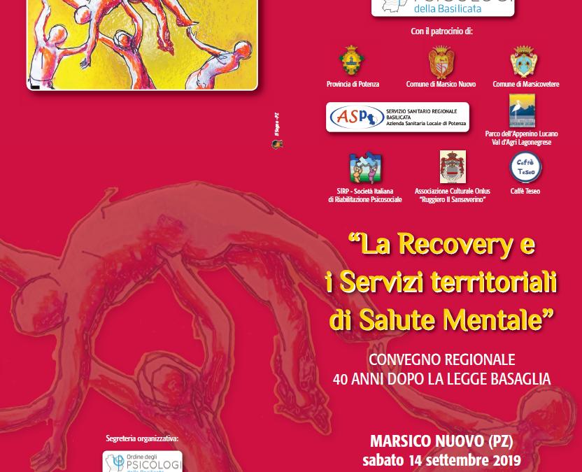 """14 settembre a Marsico Nuovo il convegno dal titolo """"La recovery e i servizi territoriali di Salute Mentale"""""""
