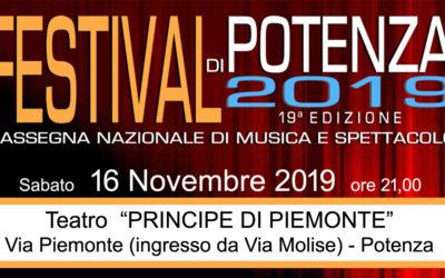 Sabato 16 Novembre – Festival di Potenza al Teatro Principe di Piemonte