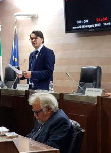 Il Presidente Carmine Cicala e l'Assessore Leone