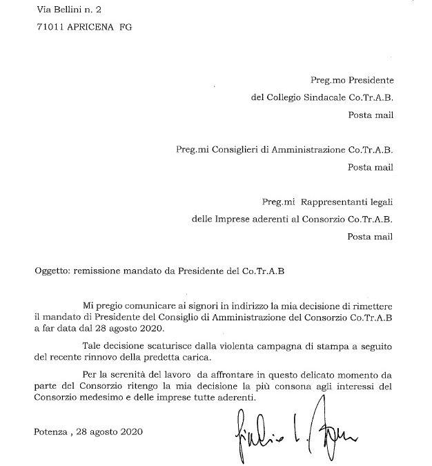 ULTIMISSIMA! Dimissioni Ferrara, ecco la lettera
