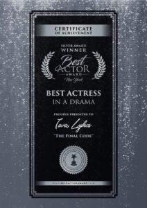 Il riconoscimento come miglior attrice a Ieva Lykos