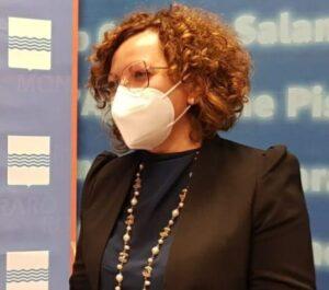 il sindaco di Chiaromonte, Valentina Viola