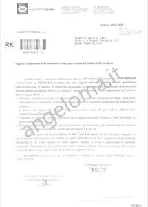 """Le lettera di Acquedotto Lucano ricevuta dagli """"Eredi"""" Ferretti"""