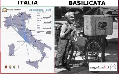 Basilicata e vaccini: che ti programmo se arrivano a spizzichi e bocconi? Case farmaceutiche in affanno? Ancora insufficienti le dosi inviate, come in tutta Italia.
