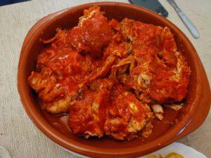 Il pollo imbottito al sugo di salsiccia lucana
